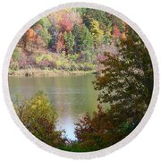 Devils Bathtub Round Beach Towel