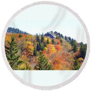 Devil's Courthouse In The Fall Round Beach Towel