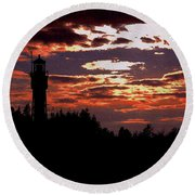 Devil's Island Lighthouse Round Beach Towel