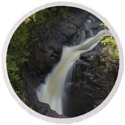 Devils Kettle Falls 3 Round Beach Towel