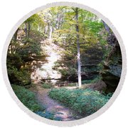 Devil's Punch Bowl Wildcat Den Round Beach Towel