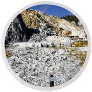 Devils Thumb - Yellowstone Round Beach Towel