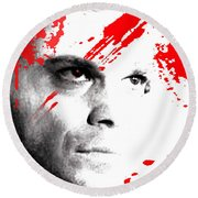 Dexter Dreaming Round Beach Towel