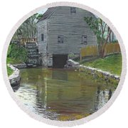 Dexter's Grist Mill - Cape Cod Round Beach Towel