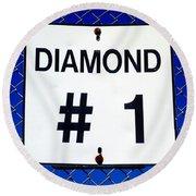 Diamond 1 Round Beach Towel