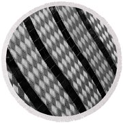 Diamond Fence Round Beach Towel