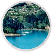 Diamond Harbour Round Beach Towel