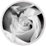 Diamond Rose Bw Palm Springs Round Beach Towel