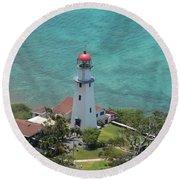 Diamondhead Lighthouse Round Beach Towel