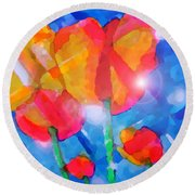 Diamonds Round Beach Towel