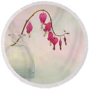 Dicentra In A Glass Vase 2 Round Beach Towel
