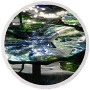 Dichromic Lily Pad Round Beach Towel