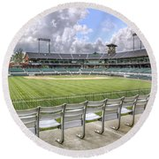 Dickey-stephens Park Round Beach Towel