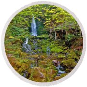 Dickson Falls In Fundy Np-nb Round Beach Towel