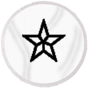 Different Pentagram Round Beach Towel