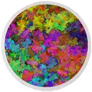 Digiral Abstract Colors Rich Round Beach Towel
