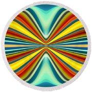 Digital Art Pattern 8 Round Beach Towel by Amy Vangsgard