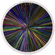 Digital Infinity Abstract Round Beach Towel