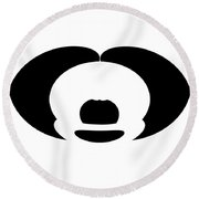 Digital Mono 10 Round Beach Towel