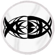 Digital Mono 13 Round Beach Towel