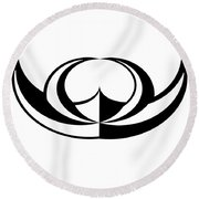 Digital Mono 8 Round Beach Towel