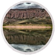 Dillon Pinnacles Reflections Round Beach Towel