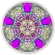 Dimensional Crossover Round Beach Towel