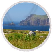 Dingle Coast Round Beach Towel