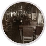 Dining Car Round Beach Towel