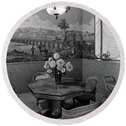 Dining Room In Helena Rubinstein's Home Round Beach Towel