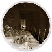 Dining Room Table Circa 1900 Round Beach Towel