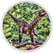 Dino In The Bronx One Round Beach Towel