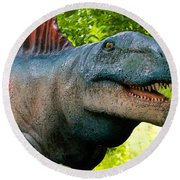 Dino In The Bronx Two Round Beach Towel