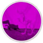 Dino Purple... Barney Round Beach Towel