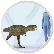 Dinosaur Aucasaurus Round Beach Towel