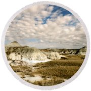 Dinosaur Badlands Round Beach Towel