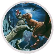 Dinosaur Canyon Round Beach Towel