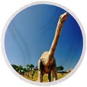 Dinosaur Sculpture One  Round Beach Towel