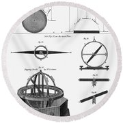 Dipping Needle Compass Round Beach Towel