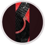 Diptych Wall Art - Macro - Red Section 2 Of 2 - Giants Colors Music - Abstract Round Beach Towel
