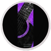 Diptych Wall Art - Macro - Purple Section 2 Of 2 - Vikings Colors - Music - Abstract Round Beach Towel