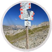 Directions Round Beach Towel