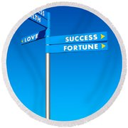 Directions To Goals Round Beach Towel