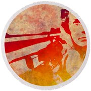 Dirty Harry - 4 Round Beach Towel