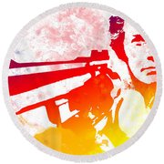 Dirty Harry Round Beach Towel