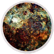 Discovery - Abstract 002 Round Beach Towel
