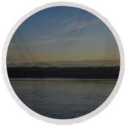 First Light Discovery Passage Round Beach Towel