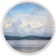 Early Morning Discovery Passage  Round Beach Towel