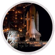 Discovery Space Shuttle Round Beach Towel