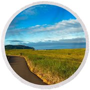 Discovery Trail Round Beach Towel by Robert Bales